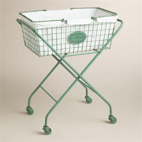 vintage style iron laundry basket on wheels jpg 2000x2000